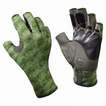 Buff Pro Series Angler Gloves Skoolin Sage S/M