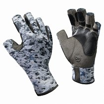 Buff Pro Series Angler Gloves Fish Camo S/M
