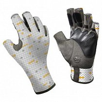 Buff Pro Series Angler Gloves White Scales S/M